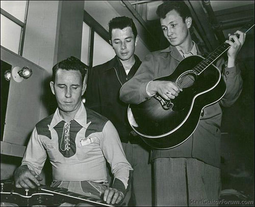 Thumbs Carlille with the black brothers 1950