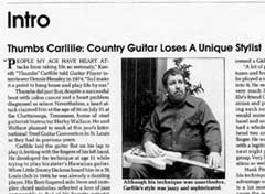 Thumbs Carllile's obituary from Guitar Player Magazine