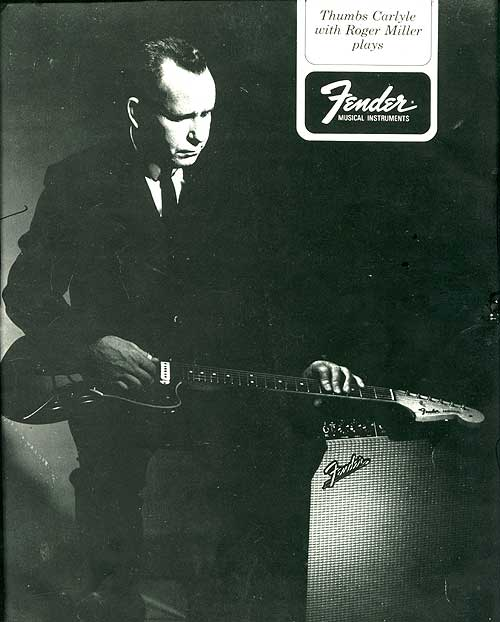 Thumbs Carlille Fender endorsement photo